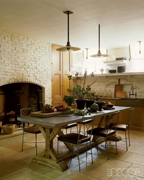 elle decor designer steven gambrel chris connor table rustic tables kitchen kitchen diner tables mefunnysideup