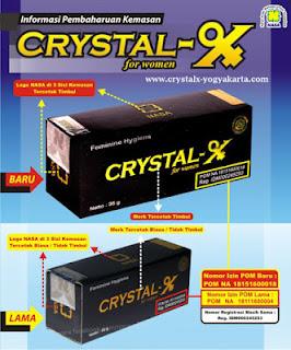 Gambar Ciri-ciri Kemasan Crystal X Asli 2015