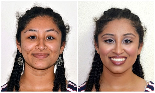 Black girl makeup tranformation
