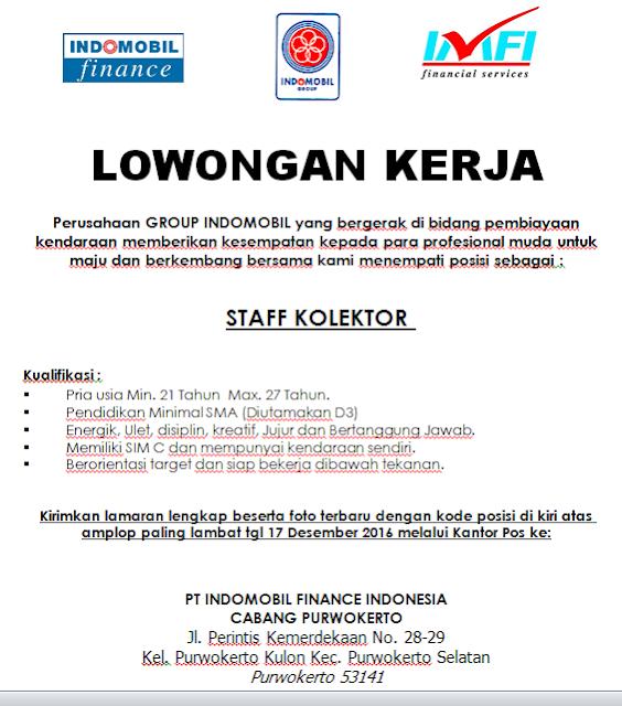 Loker PT Indomobil Finance Purwokerto | Loker Satria