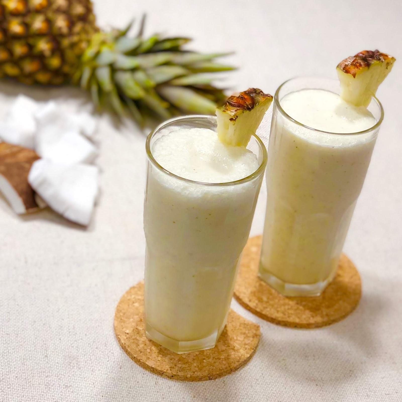 Frapê de abacaxi com coco