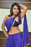 Actress Priya in Blue Saree and Sleevelss Choli at Javed Habib Salon launch ~  Exclusive Galleries 044.jpg
