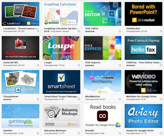 Приложения Chrome для Google Drive