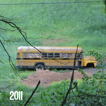 Broken down school bus