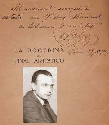 Dedicatoria del Dr. Puig a Vicente Almirall