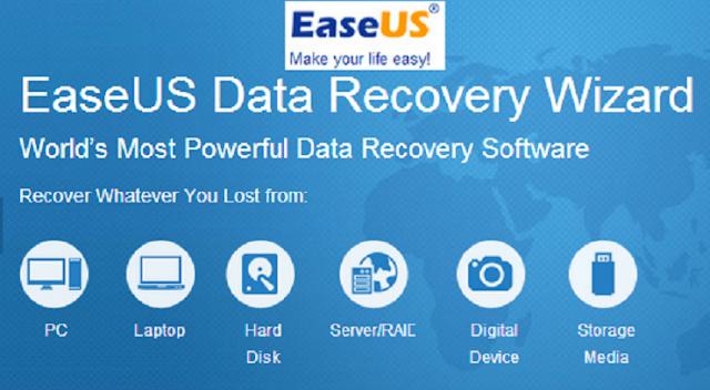 برنامج EaseUS Data Recovery Wizard لاستعادة كل الملفات المحذوفة
