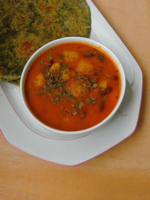 Aloo Rajma Tomato Sabji