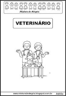 Desenho de veterinário para colorir