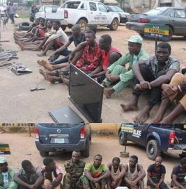 Corper, Soldier, Others Arrested for Robberies & Kidnappings