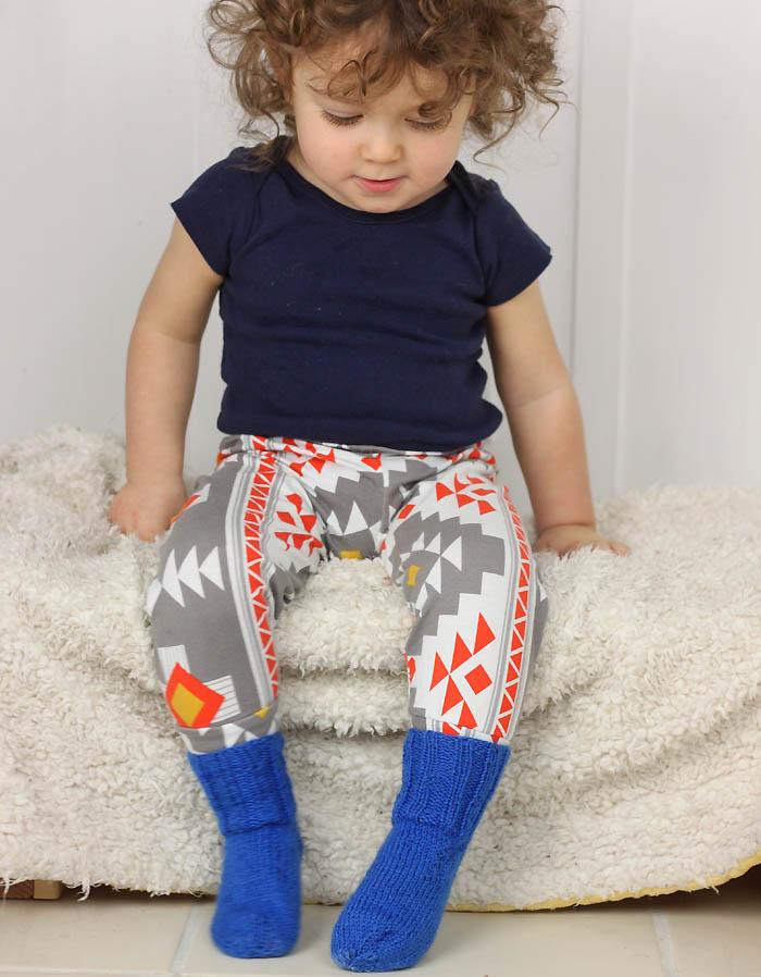 Ribbed Toddler Socks Free Knitting Pattern - Gina Michele