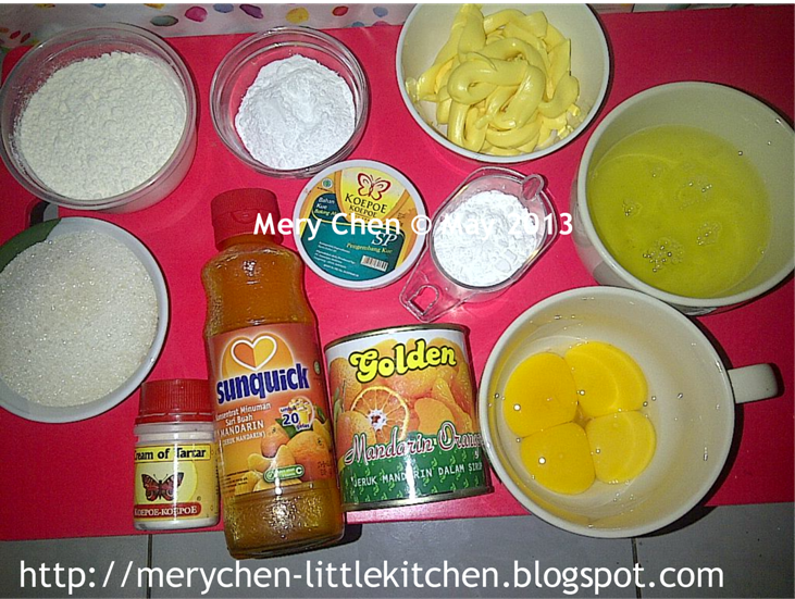 Mery Chen S Little Kitchen Orange Sponge Cake