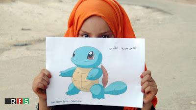 imagenes de pokemon go contra la guerra #prayforsyria