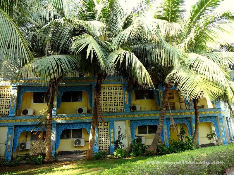 Residential quarters for students of  Vipassana meditation course Gorai , Mumbai