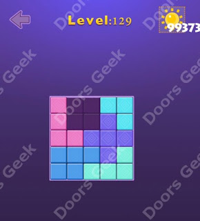 Cheats, Solutions, Walkthrough for Move Blocks Easy Level 129