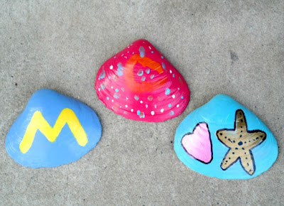 Kid's Craft Project: Hand Painted Seashells for Summer