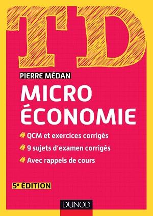 Livre : TD Microéconomie, Pierre Médan - Dunod
