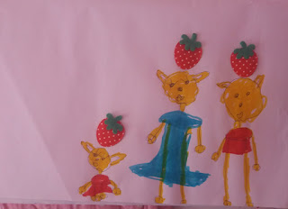 Ζωγραφιές με παιδικά σχέδια και χρώματα