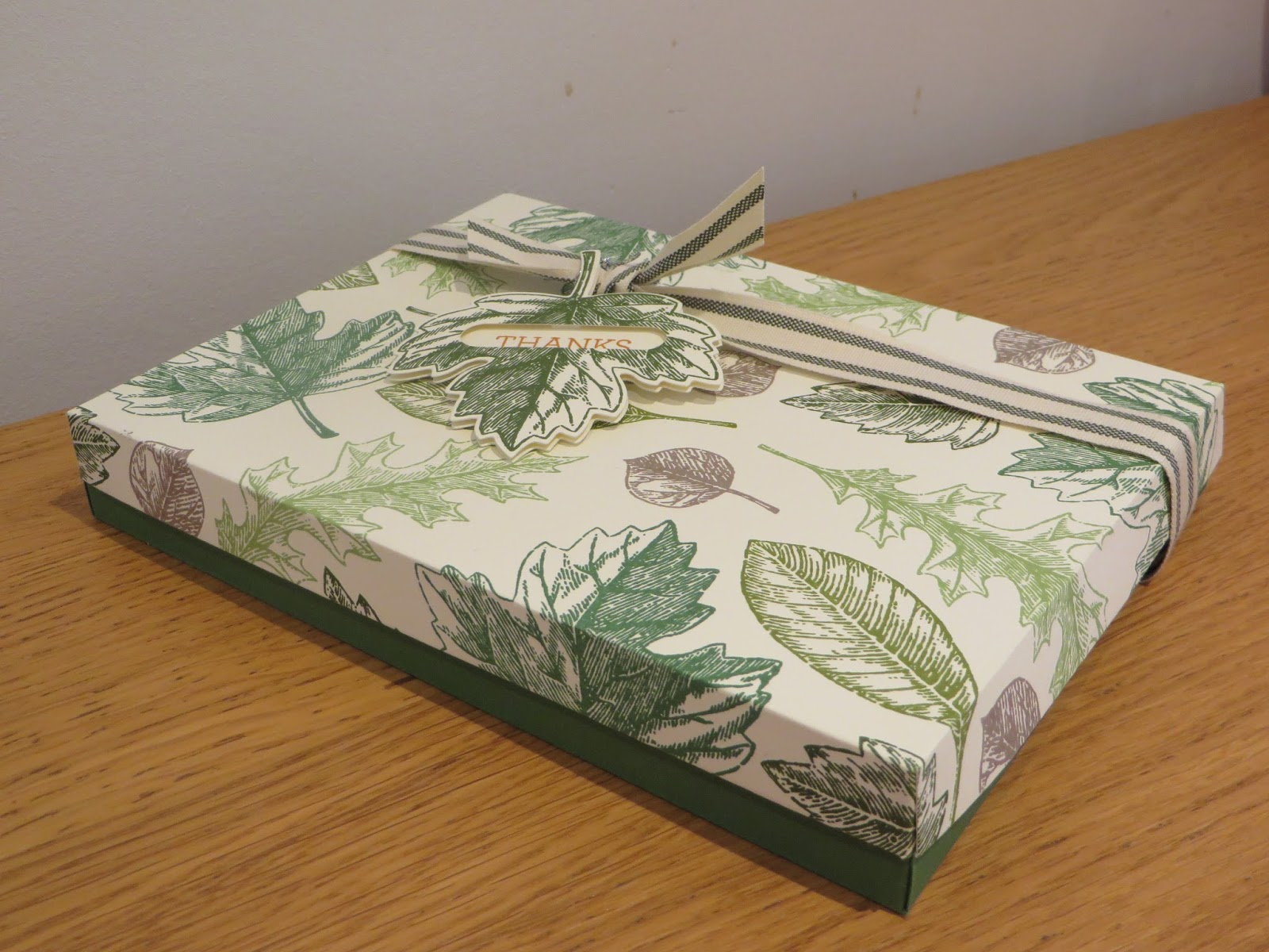 Craftycarolinecreates Vintage Leaves Handmade Gift Box Tutorial