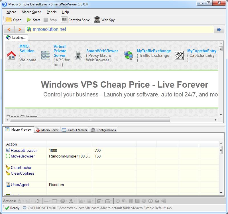 SmartWebViewer - Proxy + Macro + Web Browser | TRAFFIC
