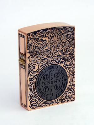 コンスタンティン Zippo ライター レプリカ ムービーサイズ レッド、ブラックコイン DSCF6122
