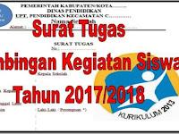 Surat Tugas Bimbingan Kegiatan Siswa Tahun 2017/2018