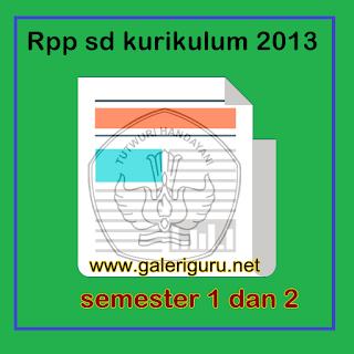 Rpp sd kurikulum 2013 semester 1 dan 2 Format Word Full Semua Kelas