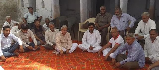 Reservation Against Party Candidate Deepak Goud visits Faridabad Village