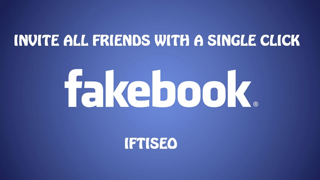 Code To Invite All Facebook Friends With A Single Click 2014 Fully