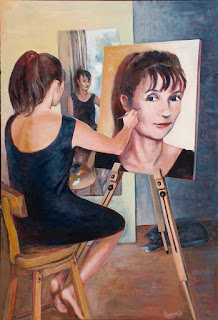 An Artist Painting Herself