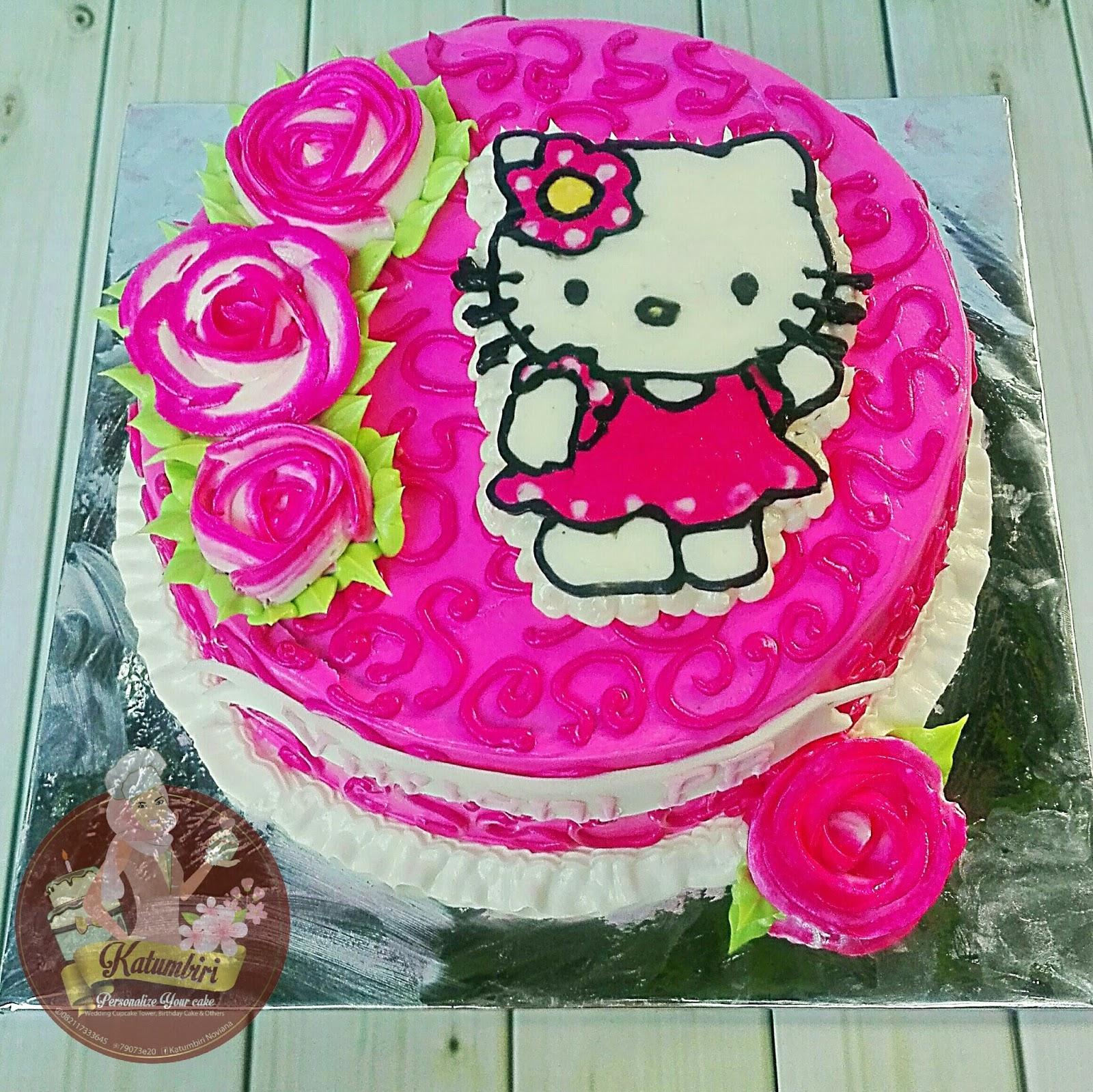 Katumbiri Custom Cake Cianjur Hello Kitty Buttercream Cake