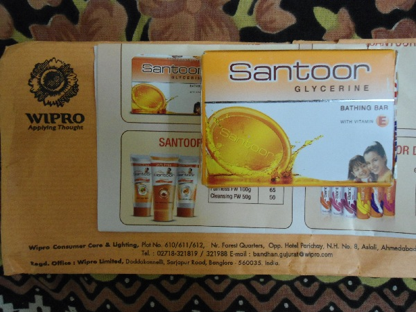 Free Sample of Santoor Soap
