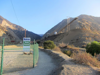 Start of Fish Canyon access trail in Vulcan Materials' Azusa Rock quarry