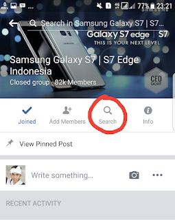 2 Cara Memunculkan Fitur Pencarian atau Search Postingan di Group pada Facebook