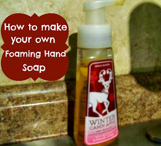 It's amazing how much money you can save making your own foaming hand soap!
