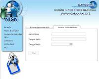 cara mencari data siswa NISN
