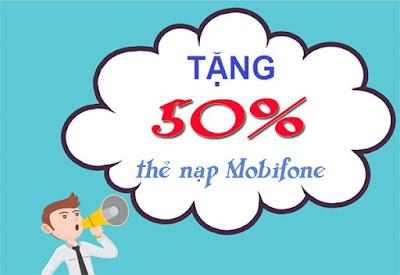Mobifone ưu đãi 50% thẻ nạp duy nhất ngày 5/4/2016