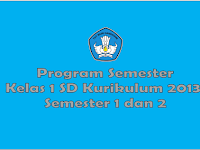 Promes Kelas 1 SD Kurikulum 2013 Semester 1 dan 2 Revisi 2017