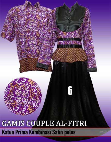 Model Baju Gamis Batik Couple Modern Terbaru