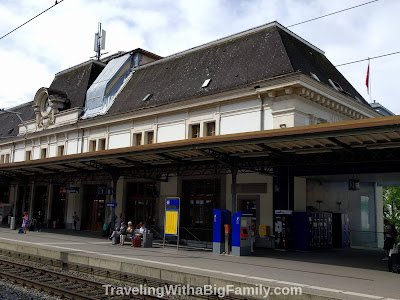 Picture of Swiss Train Station in Switzerland