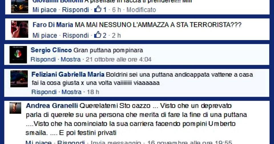 Basta sessismo in rete: e laura boldrini pubblica i nomi di chi la insulta