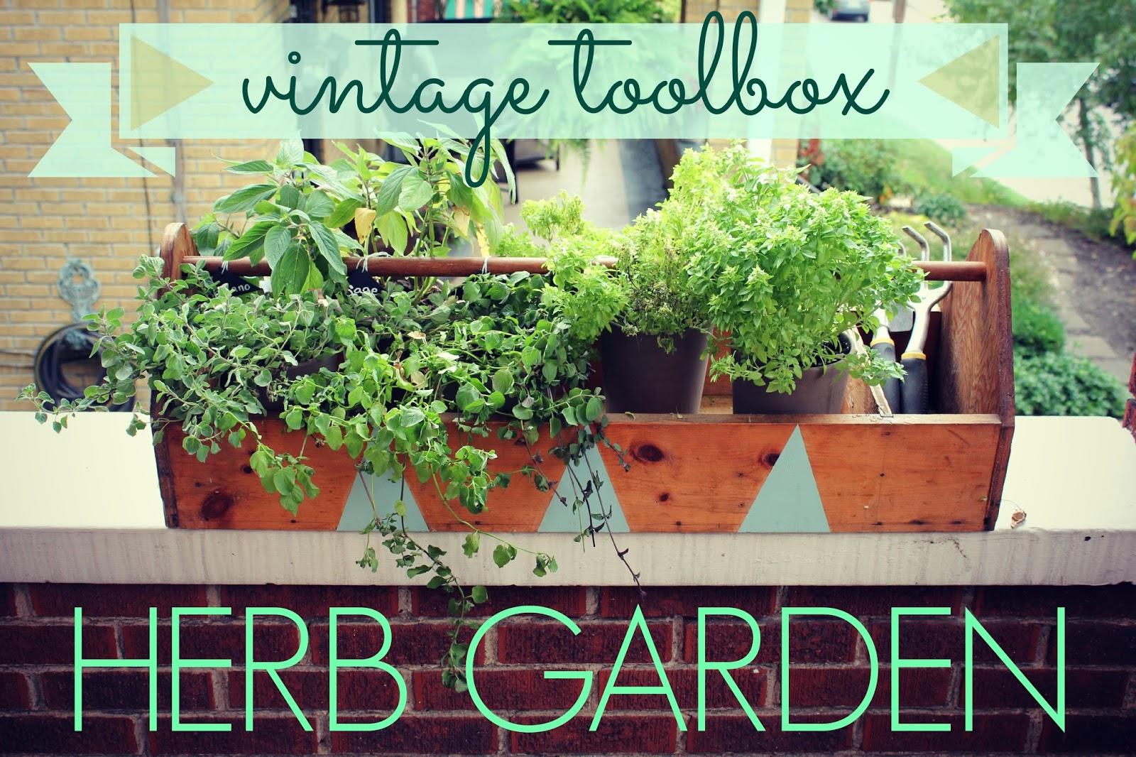 pictures of vintage herb gardens | EAT+SLEEP+MAKE: Vintage Toolbox Herb Garden (Revived ...
