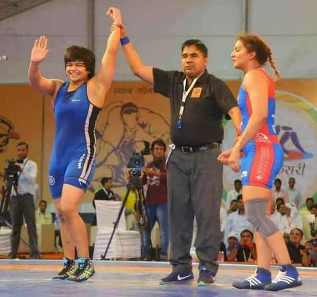 Divya San defeats international player Geeta Fogat