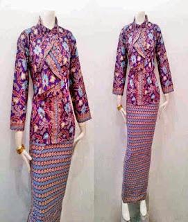 baju batik pramugari online