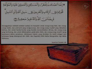 At Taubah: 60 - 8 mustahiq zakat menurut 4 mazhab