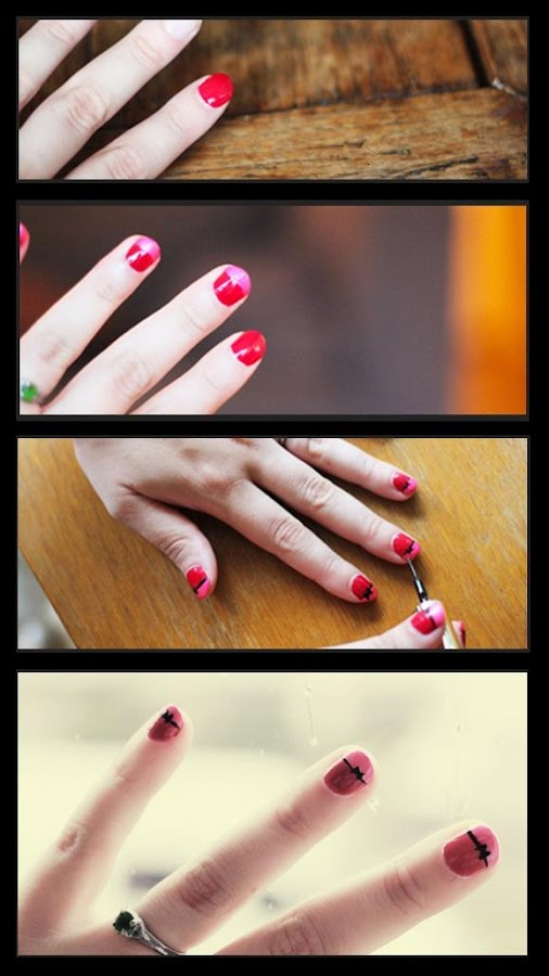 Manicure Tutorials: Bow Nails Art Tutorial