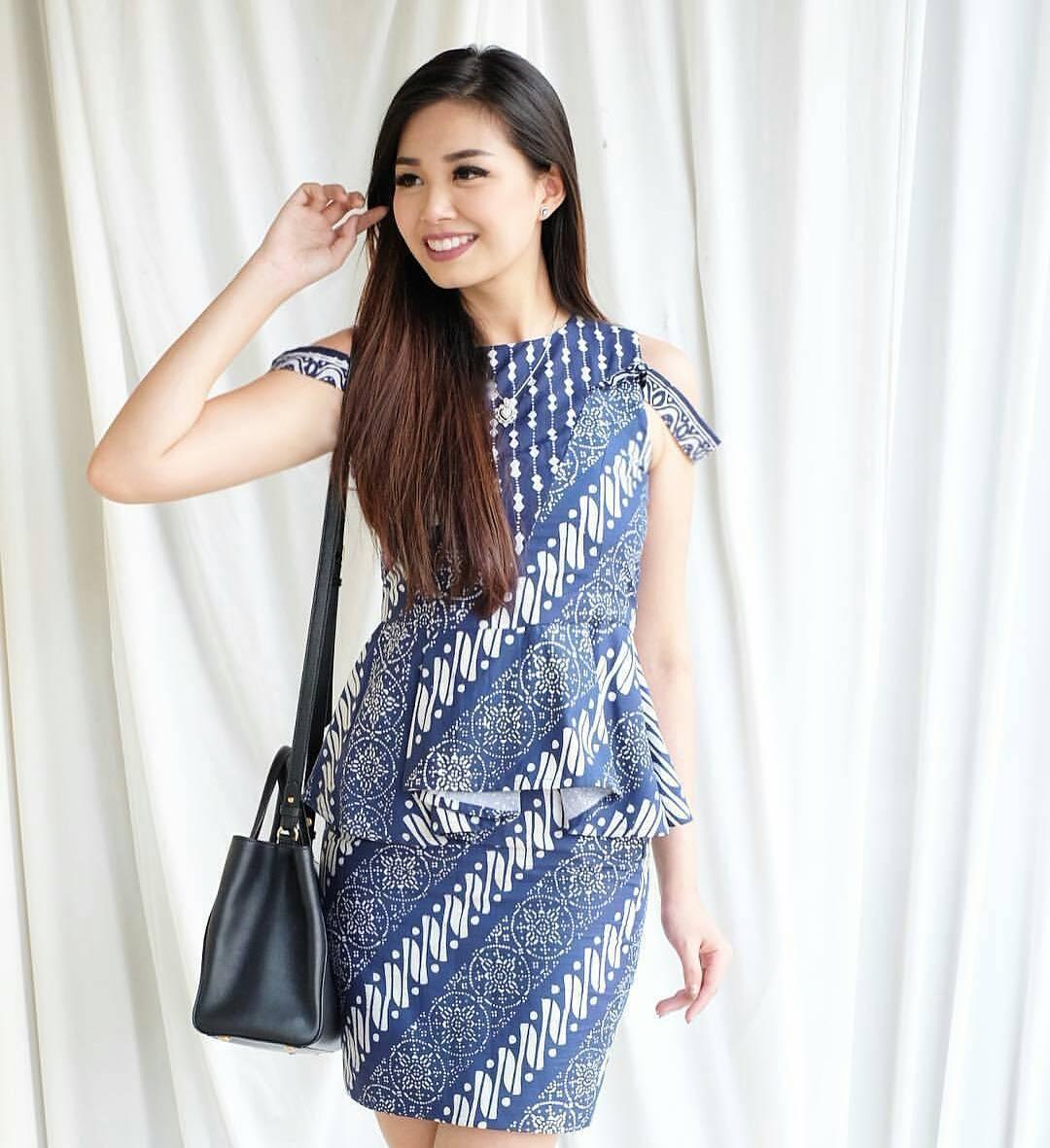 Model Baju Batik Wanita 2015: Contoh Baju Batik Wanita Model Yang Kekinian