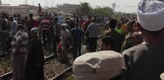"""أسماء المتوفيين وتفاصيل حادث قطار العياط رقم """"80"""" القادم من القاهرة لأسوان"""
