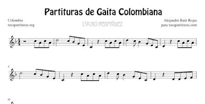 4 Partituras de Gaita Colombiana de Lucho Bermúdez