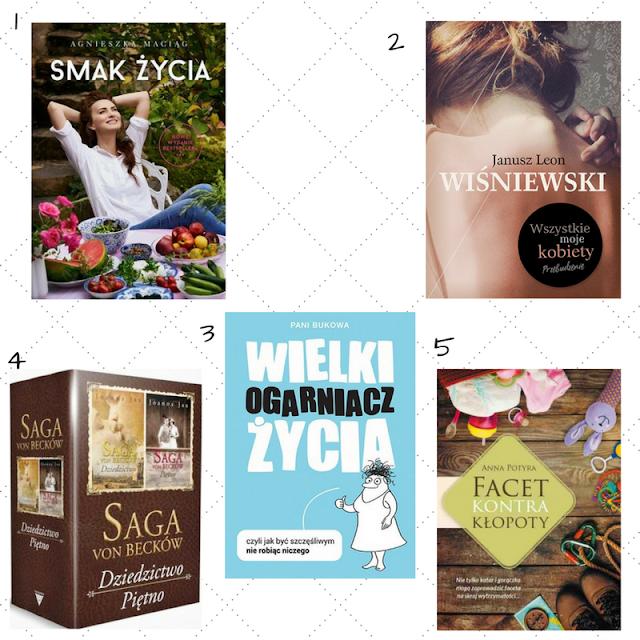 książki na wiosnę, kobiece książki, modne książki