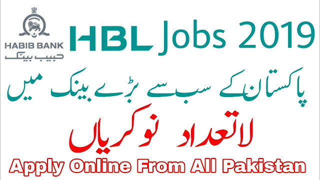 HBL Jobs May 2019 | 200+ Vacancies For Male / Female | Online Apply